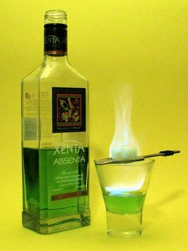 Как правильно поджигать абсент