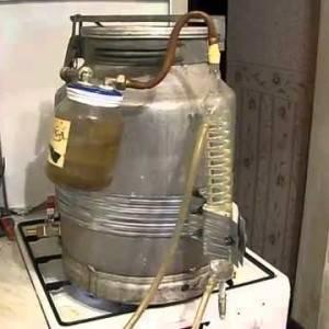 Самогонный аппарат из молочного бидона