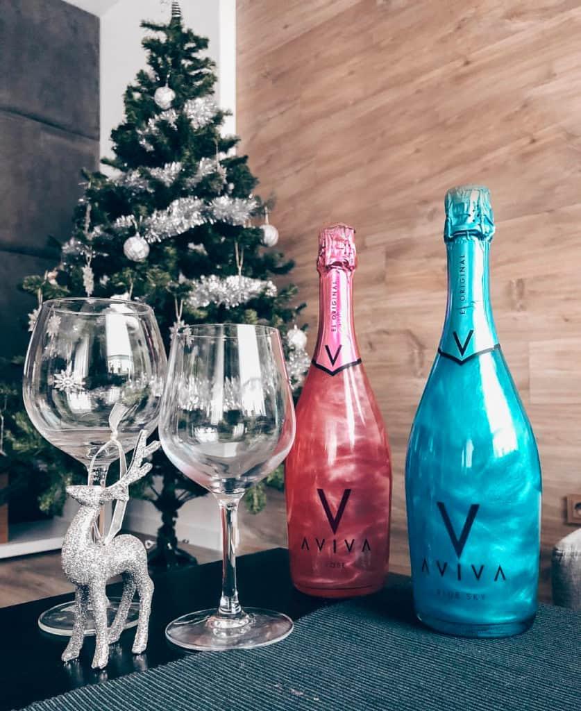 Голубое перламутровое шампанское