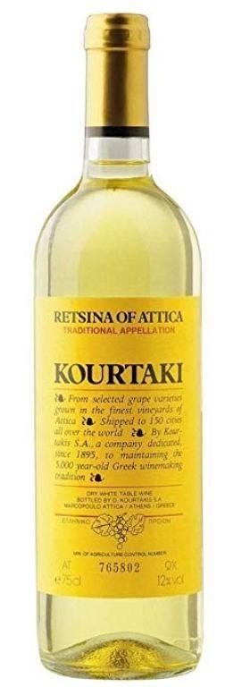 Греческое вино рецина