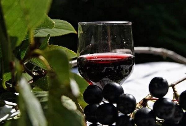 Вино из черноплодки с вишневыми листьями