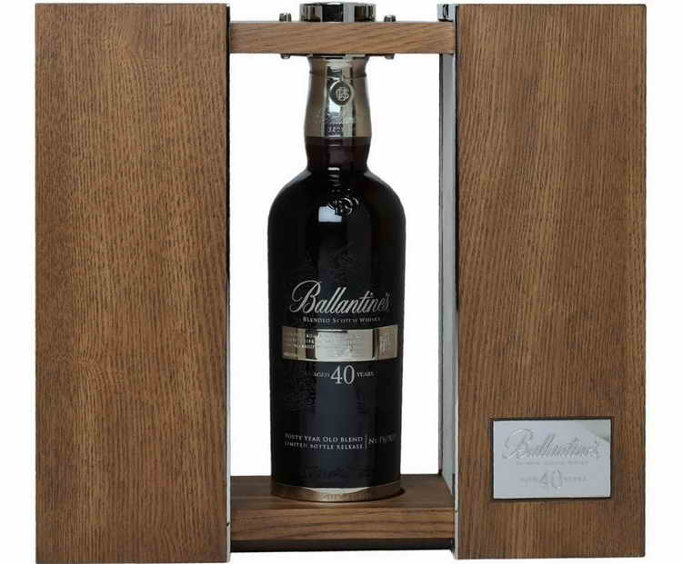 Виски баллантайнс с лаймом