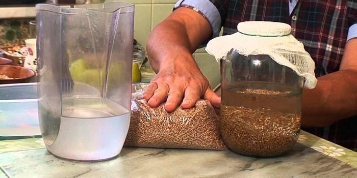 Как поставить брагу на пророщенной пшенице