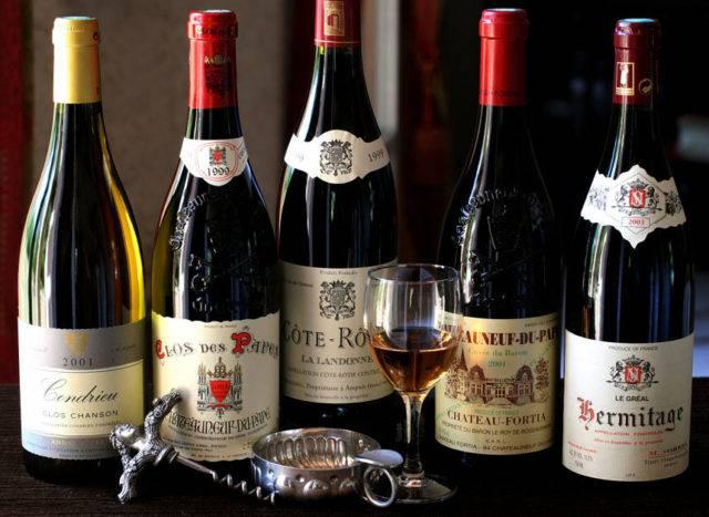 Элитные французские вина