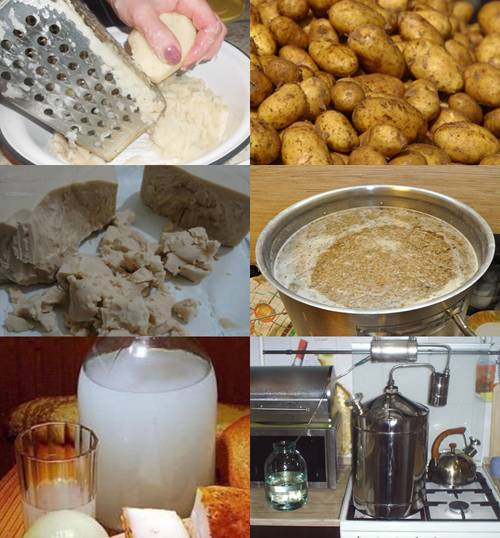 Картофельный самогон рецепт