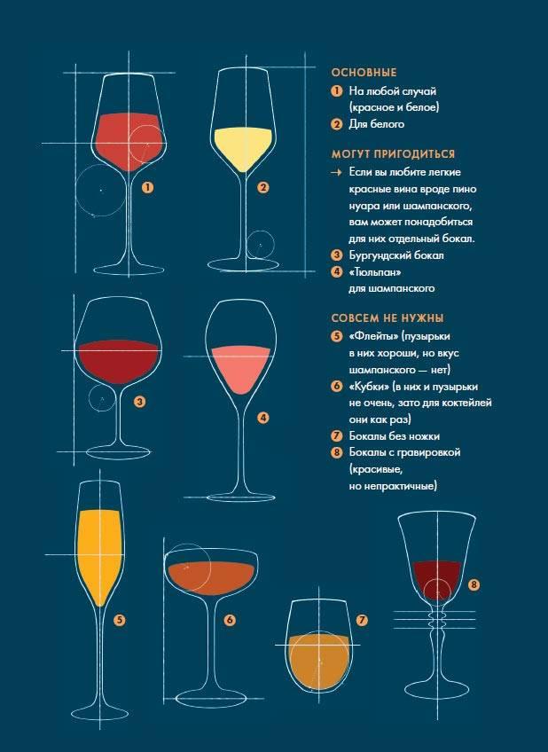 Сколько наливать вина в бокал по этикету