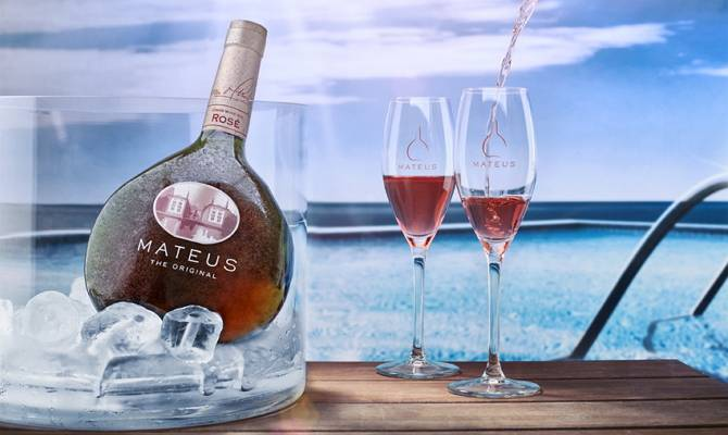 Mateus вино розовое
