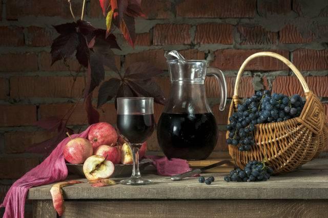 Вино из яблок и винограда