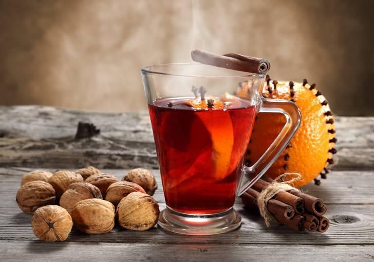 Глинтвейн с вином и вишневым соком