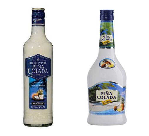 Пина колада в бутылке белой