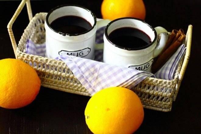 Глинтвейн с апельсином и корицей