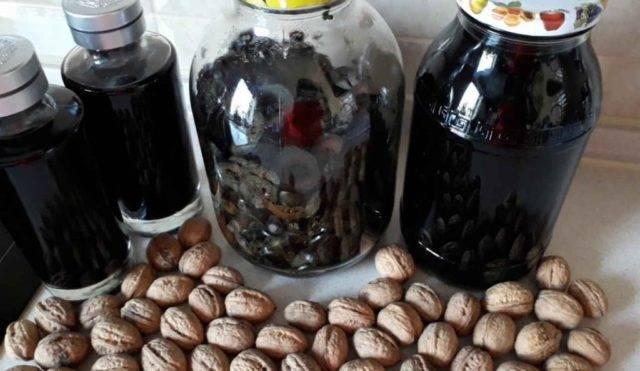 Настойка из скорлупы грецких орехов на водке