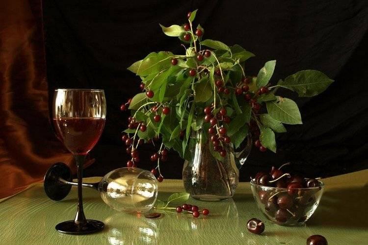 Цветки черемухи со спиртом